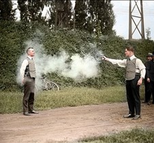W.H. Murphy tests bulletproof vest 1923