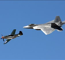 Heritage Flight, F-22 & P-51 Mustang