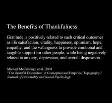 BenefitsOfThankfulness