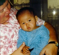 1997 Sept Kaylie first picture in China