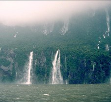 Milford Sound Four Sisters Waterfalls