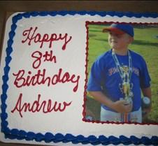 July 19, 2009 Andrew's birthday