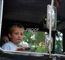 Boy in truck