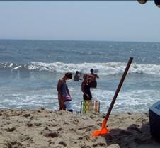 Caitlin Jill and Kathy on Beach