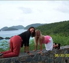 Lori and Rachel posing