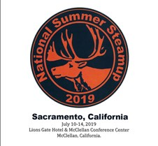 ___ 2019 National Summer Steamup Sacramento Updated  08-14-19 --   The 2019 National Summer Steamup was the 24th year for this event (17th at the Lions Gate Hotel & McCellan facility) and had 156 steamers attend. Of the steamers attending, CA=122, CO=4, MO=1, NH=1, NJ=1, NV=6, NY=2, OR=8, SC=1, TX