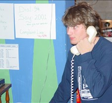 Aaron calling in the answer