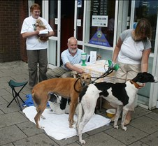 Tonypandy Fundraiser Rescued Racers 1st ever fundraisier. Thanks to the management of Somerfield in Tonypandy