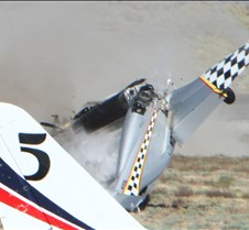 Thunder Mustang #75 Air Race Crash 457a