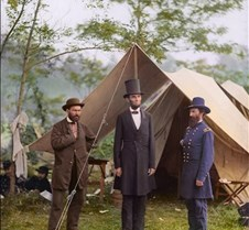 Lincoln at Antietam, 1862