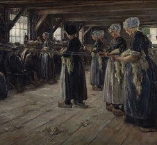 Flax Barn at Laren-1887-Max Liebermann-A