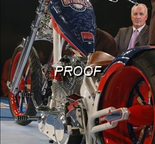 Nationals Auctioned Motorcycle