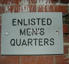 Enlisted mens quaters sign