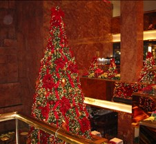 Christmas tree in Trump Tower