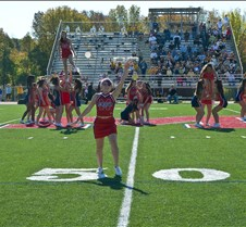 October 11, 2008 Mendham Homecoming Band and cheerleaders