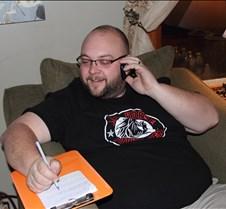 Shaun answering phones