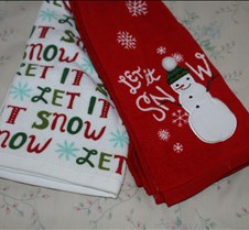 card Winter let it snow red