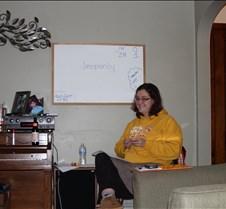 Sara writing stuff on our board