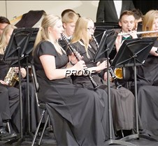 Concert band clarinets