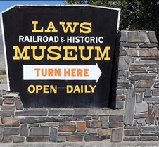 Laws Railroad & Historic Museum Updated 04-04-2016. The Laws Railroad & Historic Museum is located on US Highway 6 just 5 miles north of the junction of US395 & US6 in Bishop California. The 15 acre museum is situated on the site of the Laws Railroad station and rail yard. The 1883 depot