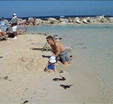 Rob and Caitlin on Cococay beach 2001011