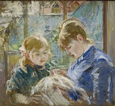 Artist's Daughter with her Nanny-Berthe