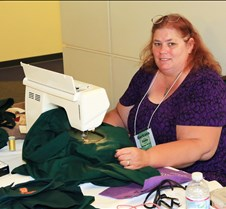 Barbara Coley & Her Embroidery Machine