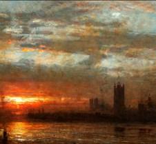 Westminster Sunset - Albert Goodwin - 19