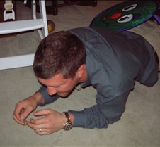 Rob crawling through caterpillar
