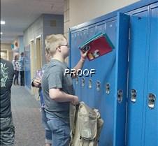 MAHS putting stuff in locker