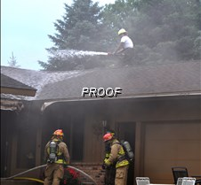 fire-firefighter on roof