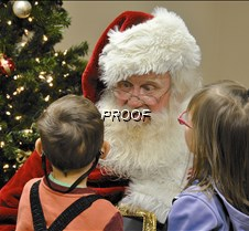 Santa talks with youngsters