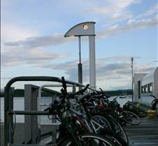 Oslo ferry dock bikes