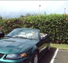 Brad in Mustang convertible Kauai Airpor