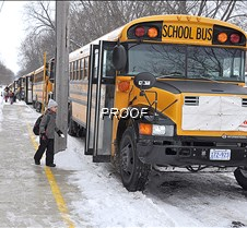 boarding a school bus