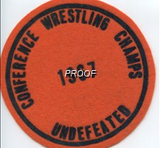 67 wrestling patch