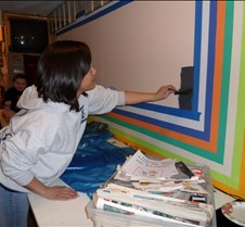 Vanessa painting the wall