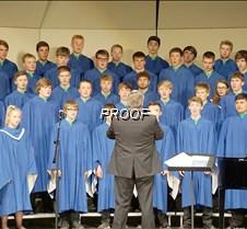 Concert choir close up