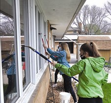 cleaning windows at GRV