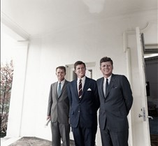 Robert, Edward & John F. Kennedy, 1963