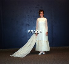 Bridal gown with train