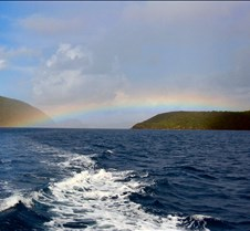 Rainbow while sailing to BVIs
