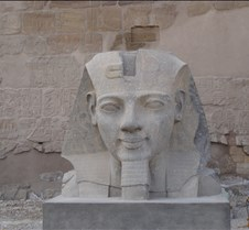 Ramses in front of Luxor