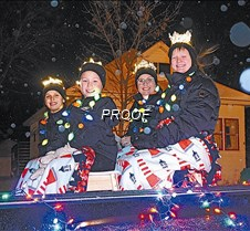 Royalty before lighted parade