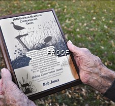 2020 Conservationist of the Year plaque