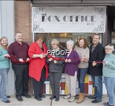The Box Office ribbon cutting