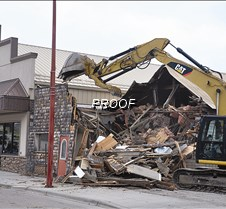 Front-Starbuck building demolished