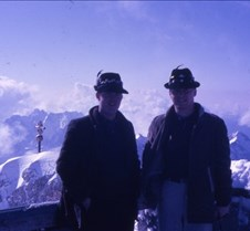 Dick Gordon and I at the top of the Zugs