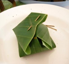 rice in leaf