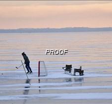 playing lake hockey